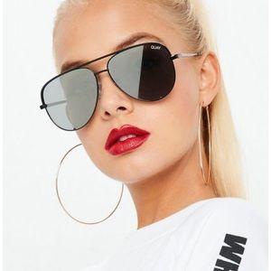 Quay x Desi High Key mini Black silver sunglasses